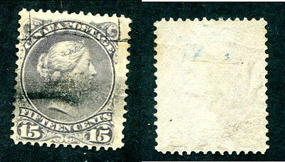 Used Canada 15c Queen Victoria Large Queen Stamp #29 or 30 (Lot #13096)