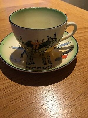 Rare Burleigh Ware. Neddy The Seaside Donkey Cup, Saucer And Little Plate