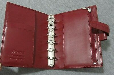 Filofax Pocket Cross Italian Leather Organiser ! Nice