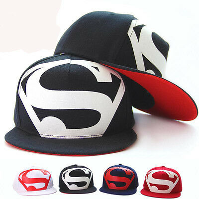8ef9a3224 MEN WOMEN SUPERMAN Baseball Cap Snapback Hat Hip-Hop Adjustable Bboy ...