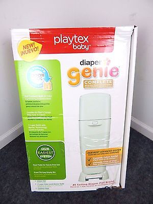 Playtex Baby Diaper Genie Complete All-In-One Diaper Disposal Pail System Green
