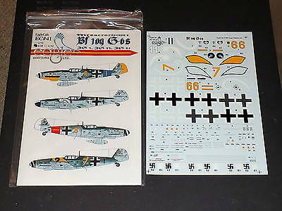 EagleCals Decals EC41 1/48 Bf109 G-6's JG3, JG53, JG54