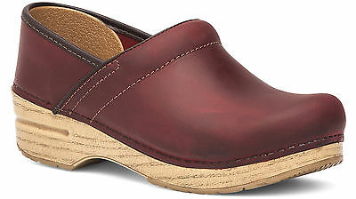 Dansko Women's Professional Clog Red Oiled Leather Size 40