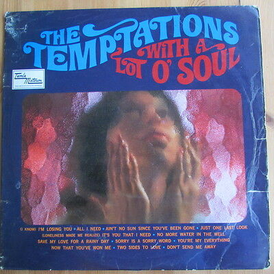 The Temptations Lp With A Lot Of Soul ( First Issue ) Vg+/vg