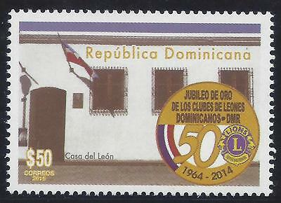 DOMINICAN REPUBLIC LIONS INTERNATIONAL 50th ANNIVERSARY Sc 1576 MNH 2015