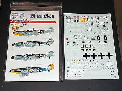 EagleCals Decals EC27 1/48 Bf109 G-6's