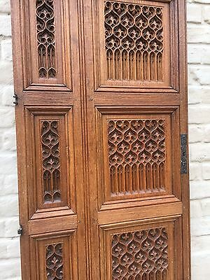 SALE!Stunning BIG SIZE Neo Gothic ChurchDoor panel in oak /Absolute top Quality