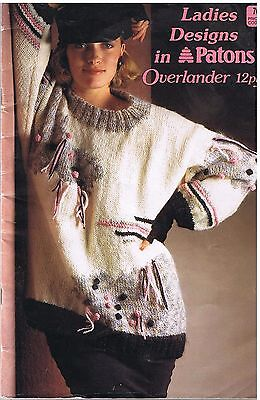 Patons Knitting Patterns 8 Designs Overlander 12Ply Book 761 Jumper Sweater
