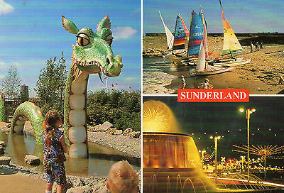 postcard  Newcastle on Tyne Sunderland multiview  un posted