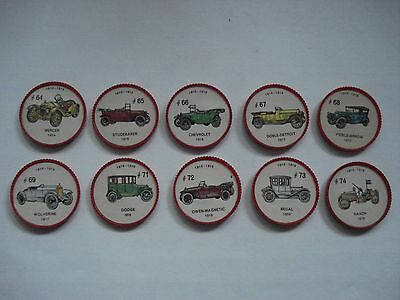 Jell-O Promotion Lot Of 10 Different Plastic Coins Car  Vintage Lot # 7