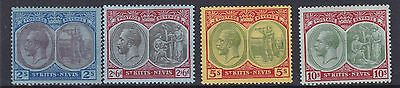 St Kitts  1920 - 22    S G  32 - 35   2/-  To 10/- Values  Mh Some Hinge Remains