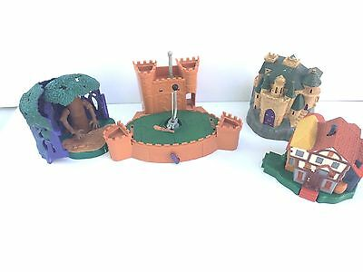 Polly Pocket HARRY POTTER LOT No Characters Hogwarts Quidditch Willow Weasley