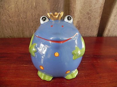 Cute Royal Frog With Crown Piggy Bank
