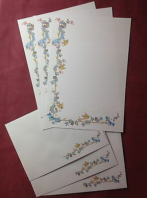 Forget me not flowers (lined) Letter Writing Paper & Envelopes Stationery Set