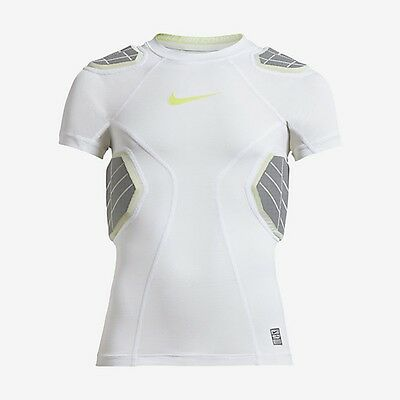 Nwt Nike Youth's(Big Boys') White Hyperstrong 4-Pad Ss Football Top Sz Xl 584397