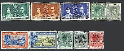 BAHAMAS Collection of 10 MH 1859-1953 Era All Different