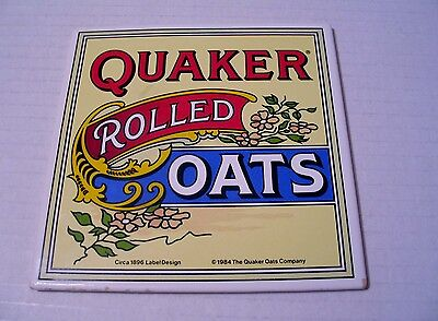 Quaker Oats Decorative Tile Trivet Copy of Circa 1896 Label Design Advertising