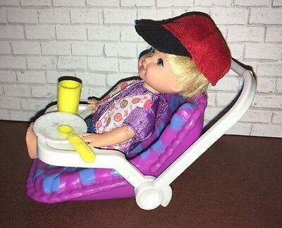 Barbie Toddler Tommy Doll  With Car Seat Mattel Kelly