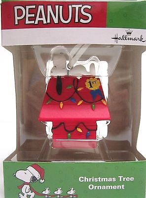 Hallmark 2016 Peanuts Snoopy on #1 Christmas Doghouse Ornament New in Box