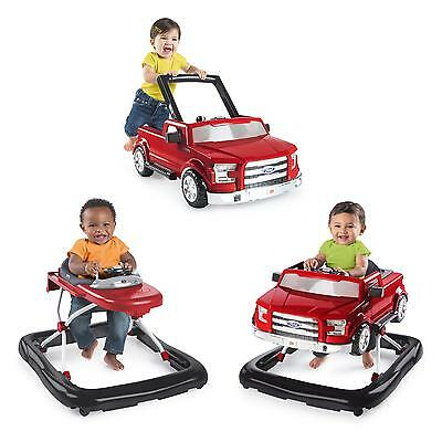 Bright Starts 3 Ways To Play Walker Ford F 150 Red Pink Push Behind Safety Seat