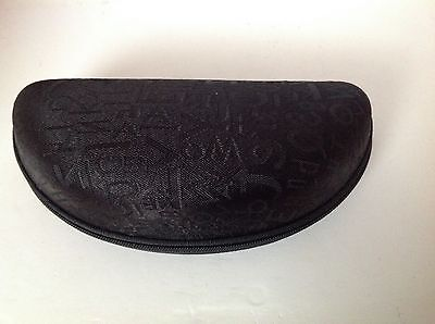 Hard Eyeglass or Sunglass Clamshell Case, zippered with black fabric outside