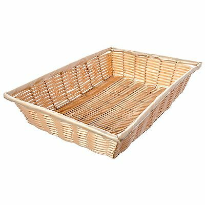 """Lot of 6 Tablecraft Rectangle Woven Food Serving Basket, Natural 14""""x10""""x3"""" New"""