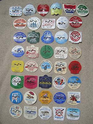 41   Year   Collection   Ocean   City,   New   Jersey   Beach   Badges/tags