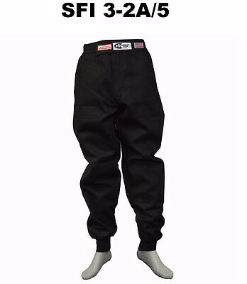 Fire Suit Sfi 5 Racing Pants 3-2A/5 Rated Black Size Adult 2X Ihra Nhra Adrl