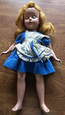 Vintage Doll Unmarked 14 inches