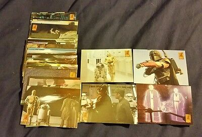 50 x merlin collectable star wars trading cards from 1997 vgc