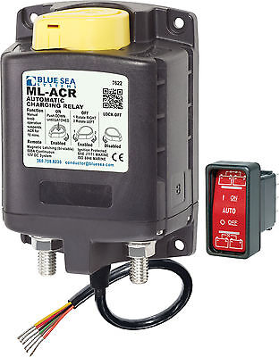 Blue Sea 7622 ML-Series 12V H/D Marine Automatic Charging Relay & Battery Switch