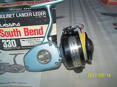 Vintage South Bend 330 Spinning Fishing Reel Box And Papers Nice 1