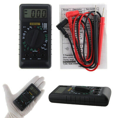 Mini Pocket LCD Digital Multimeter Volt AC DC Ohm Meter Tester with Buzzer ANENG