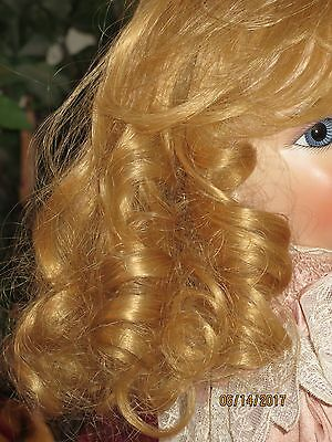 Stunning!!! Human Hair Doll Wig Blonde 16/17 Antique Bru French Jumeau Repro
