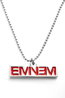 Eminem Metal Pendant with Chain Ball Necklace Red