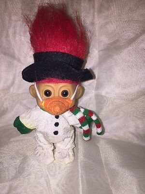 """Frosty The Snowman 5"""" Troll Doll - Carrot Nose, Hat And Scarf"""