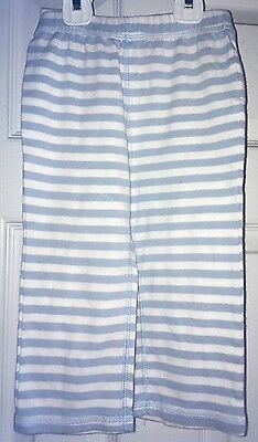 Toddler Unisex Boys Girls Old Navy Blue and White Striped Pants 18-24 Months
