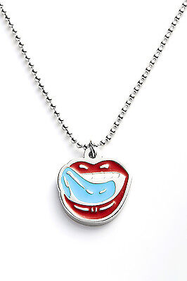 Falling in Reverse Metal Pendant with Chain Ball Necklace Just Like You Blue