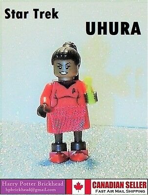 Custom LEGO Star Trek UHURA Minifigure - All New LEGO parts