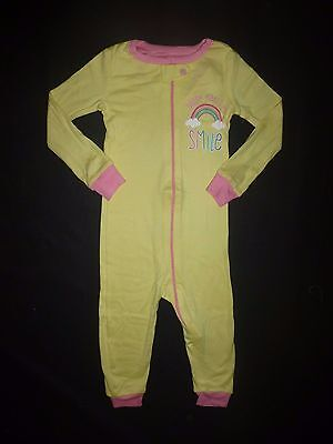 NWT The Children's Place Yellow Rainbow Romper Stretchie Sleeper Pajamas 18-24 M