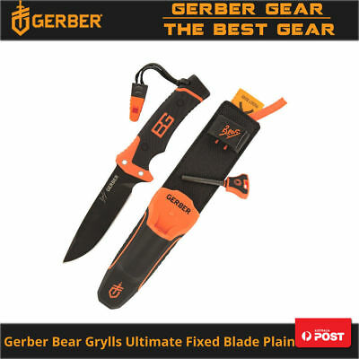 Gerber Bear Grylls Ultimate Fixed Blade Knife Plain US Closing Down Clearance