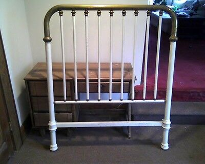 Vintage Brass Bed Head Frame Pre-1960's