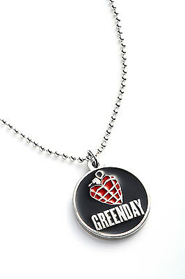 Green Day Metal Pendant with Chain Ball Necklace American Idiot