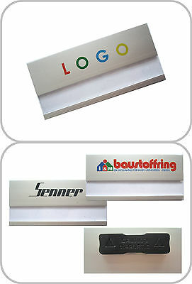 5 x profile badge from aluminum with Magnet, individual logo printing