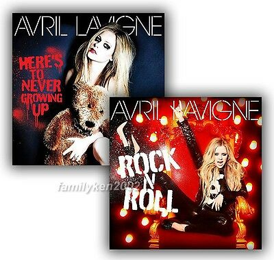Taiwan 2 Promo Posters NEW! AVRIL LAVIGNE Rock N Roll Here's To Never Growing Up