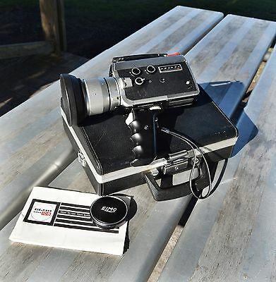 ELMO Super108 Super8 Movie Camera-Great Condition in case-Working Great