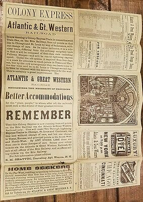 Atlantic & Great Western Railroad Time Tables December 1877