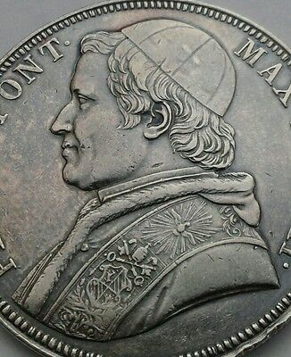 Vatican, Papal States, Scudo 1853-VIIIR. KM#1336.2. .900 Silver Crown coin.