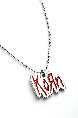 Korn Metal Pendant with Chain Ball Necklace Red
