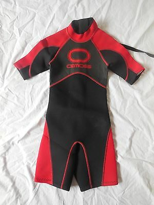 Ozmosis Girls Sz 8 Black And Red 1.5Mm Springer Wetsuit/wet Suit